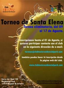 Cartel Torneo de Santa elena